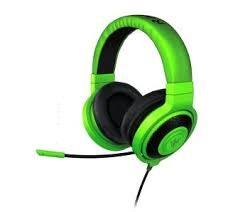 słuchawki zielone słuchawki, słuchawki z mikrofonem,